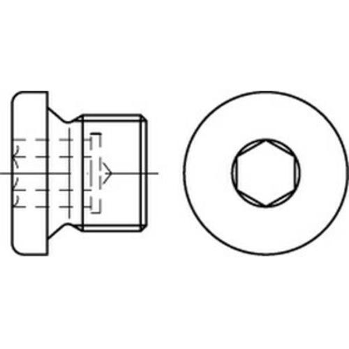 10 x  Verschlussschrauben mit Bund u.Innensechskant DIN 908 Stahl M 33 x 2